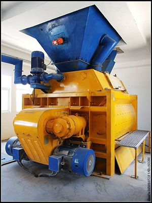 twin shaft compulsory concrete mixer